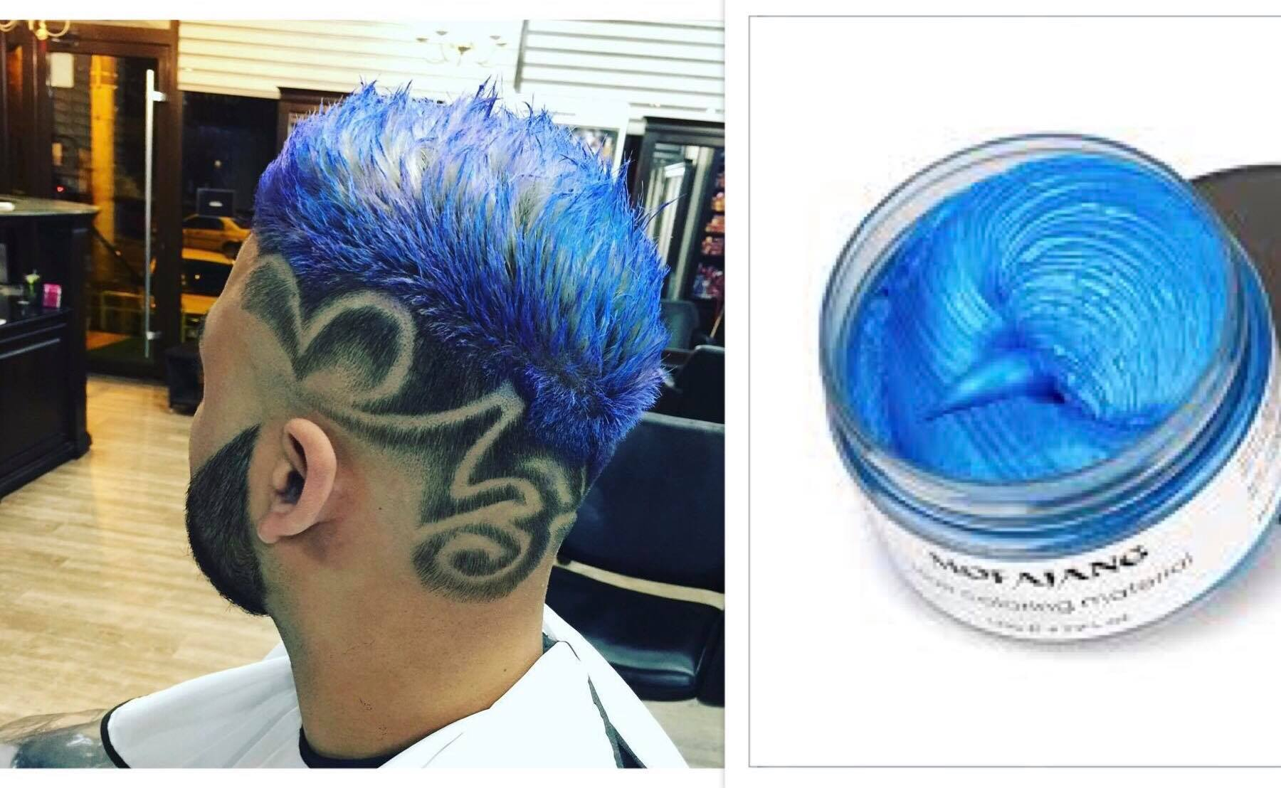 ceara de par colorata albastra