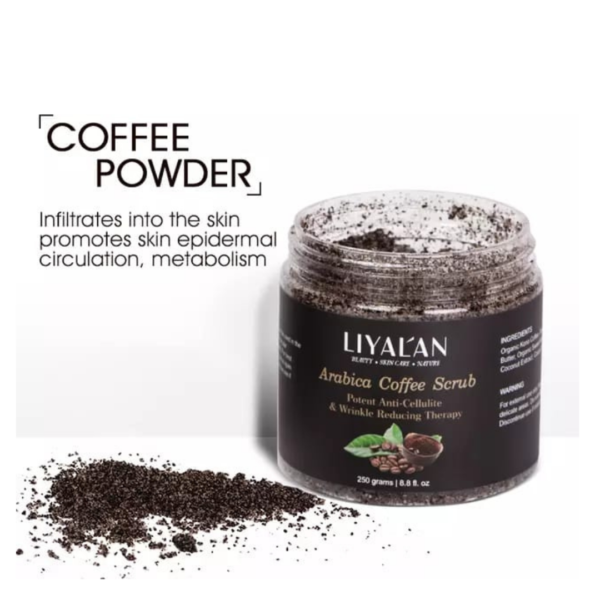 scrub cu extract de cafea